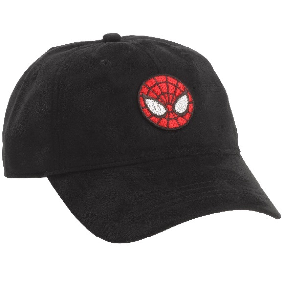 Marvel Spiderman Baseball Cap Hat Black Red Logo d30aece7293f